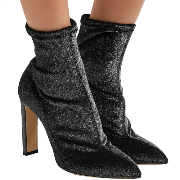 Jimmy Choo Louella Velvet Sock Boots